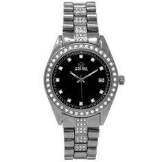 Jean Paul 44mm Black, Diamond Ice Men's Watch