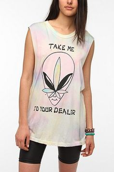 UNIF Take Me To Your Dealer Muscle Tee - Urban Outfitters