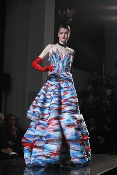 Gaultier Haute Couture, blue and red