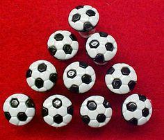 Decorative Push Pins.  Ten plastic soccer decorative push pins for cork bulletin boards.  $9.95