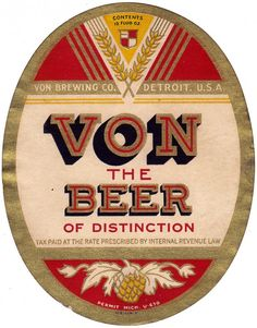 Vintage Beer Labels from Michigan graphics