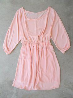 Bohemian Dress in Blush Pink