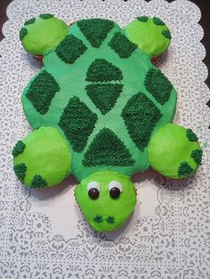 Turtle Cupcake Cake by Cakes by Kelly D, via Flickr