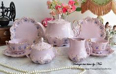 tea cup tea set coffee cup coffee set vintage cup dish by VintageTeaTimeByNiw Pink Tea Cups, Tea Cup Set, Tea Cup Saucer, Porcelain Dolls Value, Fine Porcelain, Tea Sets Vintage, Vintage Teacups, China Tea Sets, Deco Table