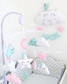 The price match the color and number of letters. Please selected the number of letters that match the name. Baby Girl Nursery Decor, Baby Bedroom, Baby Room Decor, Baby Mädchen Mobile, Cute Diy Room Decor, Baby Doll Accessories, Diy Bebe, Baby Sewing Projects, Baby Room Design