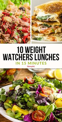 10 Weight Watchers Lunches in 15 Minutes Who has time to prepare a healthy lunch? Dig into these 10 Weight Watchers lunches ready in 15 minutes or fewer. Cheap Clean Eating, Eating Fast, Clean Eating Snacks, Clean Eating Recipes, Diet Recipes, Healthy Eating, Healthy Recipes, Skinny Recipes, Diet Tips