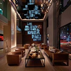 The Quin Hotel in New York City, Lobby, Ceiling, Product Line EXYD-M, Photo The Quin Hotel