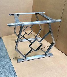 Design Dining Table Base Set of 2 Steel Legs 2 Upper Cross