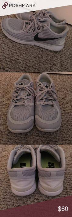Nike Free Run A pair of wolf grey nike free runs size 11.5 barely worn Nike Shoes Sneakers