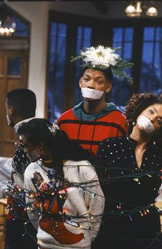 wallpaper Still of Will Smith, Tatyana Ali, Alfonso Ribeiro and Karyn Parsons in The Fresh Prince of Bel-Air Fresh Prince, Will Turner, Willian Smith, Prinz Von Bel Air, Arte Do Hip Hop, Alfonso Ribeiro, Tatyana Ali, Family Christmas Movies, Wallpaper Iphone Disney