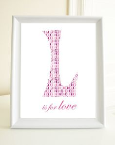 L is for Love  8x10 Print by nuevodesigns on Etsy, $16.00
