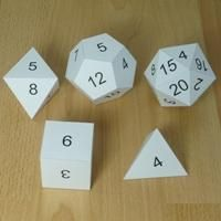 Make your own Platonic Solids dice numbers, These would be great for math games!