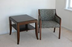 Upholstered Chair and Table http://www.ctonlineauctions.com/detail.asp?id=240343