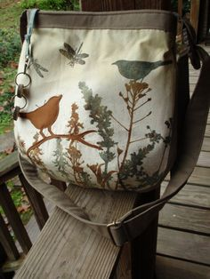 Dandelion Dragonfly Bird Bag 2 / Handbag / Tote / by LBArtworks