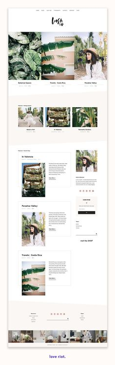 Lush is a bold stylish and feminine WordPress theme built on the Genesis Framew - Wordpress Portfolio Theme - Ideas of Wordpress Portfolio Theme - Lush is a bold stylish and feminine WordPress theme built on the Genesis Framework. Web Themes, Website Themes, Sticky Navigation, Paradise Travel, Blog Layout, Web Layout, Ui Web, Wordpress Template, Best Wordpress Themes