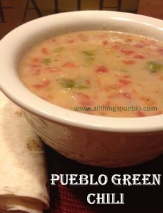 Recipes for the Garden Veggies: Pueblo Green Chili happydealhappyday. Read Recipe by hdealhday Pueblo Green Chili Recipe, Green Chili Pork, Green Chilis, Green Chili Sauce, Veggie Chili, Colorado Green Chili Recipes, Mexican Dishes, Mexican Food Recipes, Burritos