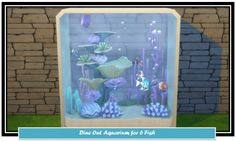 Mod The Sims: Dine Out 6 Fish Aquarium Clone by LittleMsSam • Sims 4 Downloads