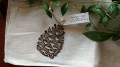 Steel Pine Cone Ornament by GowenStudios on Etsy
