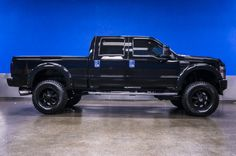 Murdered OUT All Black 2009 Ford F-350 4x4 6.4L Powerstroke Diesel Truck