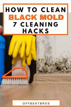 Cleaning Mold, Diy Home Cleaning, Cleaning Hacks, Clean Black Mold, Remove Black Mold, All Natural Cleaning Products, Diy Cleaning Products, Mold And Mildew Remover, Get Rid Of Mold