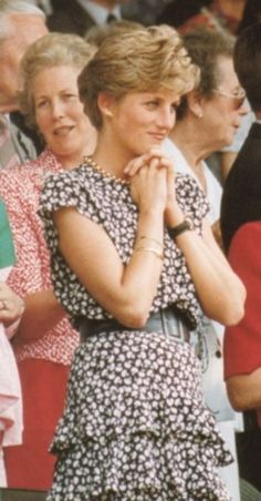 July 7, 1991: Princess Diana watching the Men's Final: Michael Stich vs. Boris Becker at Wimbledon.