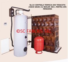 centrala termica in soba de teracota Wood stove central heating systems 2 Central Heating, Fire Extinguisher, Survival Knife, Heating Systems, Solar, Recycling, Projects To Try, Kitchen Appliances, Wood