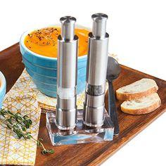 Eparé Stainless Steel Salt and Pepper Grinder Set - http://spicegrinder.biz/epare-stainless-steel-salt-and-pepper-grinder-set/