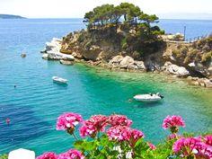Skiathos - a small Greek island in the northwest Aegean Sea. Wonderful Places, Beautiful Places, Skiathos Island, Places To Travel, Places To Visit, Exotic Beaches, Future Travel, Beach Hotels, Greece Travel