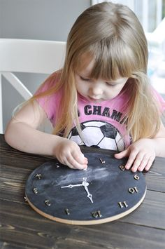 Tell Time with Chalkboard Clock | Pat Catan's Blog