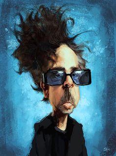 Caricatura de Tim Burton.