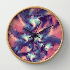 Colorful Energy Wall Clock by Danny Ivan - $30.00