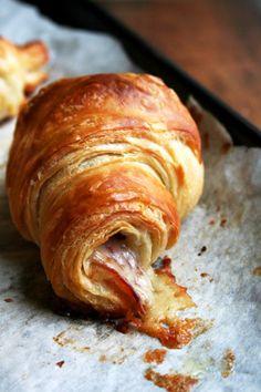 Prosciutto and gruyere croissant
