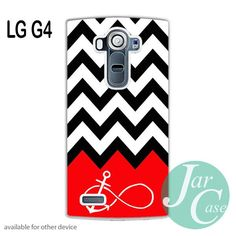 Black White Chevron Red Infinity Anchor Phone case for LG G4 and other cases