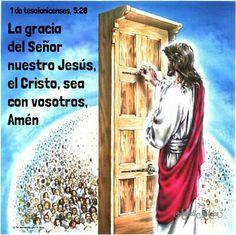 1 de Tesalonicenses, 5:28 - La gracia del Señor nuestro Jesús, el Cristo, sea con vosotros. Amén.
