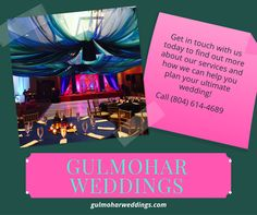 We offer a professional creative service that will transform your venue into an unforgettable experience. Our goal is to make your event enjoyable, memorable and completely stress-free. We have flexible hours to accommodate your busy lifestyle, call us! Yacht Wedding, Wedding Events, Wedding Cars, Luxury Wedding, Indian Wedding Decorations, Wedding Ceremony Decorations, Wedding Officiant Script, Head Table Decor, Indian Wedding Planner