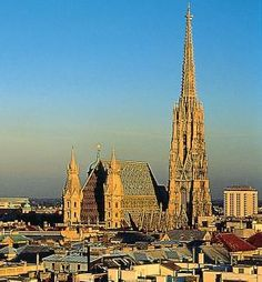 Stephansdom in Vienna Austria Beautiful Buildings, Beautiful Places, The Places Youll Go, Places To Visit, Cathedral Architecture, Cathedral Church, Old Churches, By Train, Temples