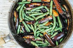 Julie's Farm Table | Eggplant and Green Beans in Black Garlic Sauce