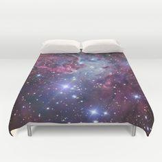 Nebula+Galaxy+Duvet+Cover+by+RexLambo+-+$99.00