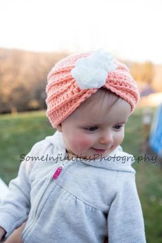 (4) Name: 'Crocheting : Baby Crochet Pattern for a Turban Hat