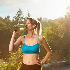 Make sure you stay hydrated when training for a triathlon or doing any kind of workout. Consider adding some electrolytes and vitamins to your drink too.