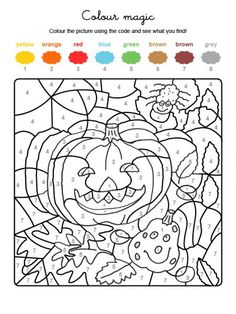Ausmalbild Malen nach Zahlen: Kürbisse ausmalen k. Witch Coloring Pages, Skull Coloring Pages, Halloween Coloring Pages, Printable Adult Coloring Pages, Disney Coloring Pages, Coloring Pages For Kids, Coloring Books, Free Coloring, Halloween Costumes For 3