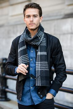 Five Four Club jacket & shirt | Express jeans | Vince scarf | Details at http://iamgalla.com/2014/11/five-four/