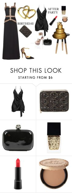 """""""BEFORE/AFTER PARTY"""" by rebeccadavisblogger ❤ liked on Polyvore featuring Christian Louboutin, Nate Berkus, Kate Spade, Alexander McQueen, Witchery, MAC Cosmetics and Too Faced Cosmetics"""