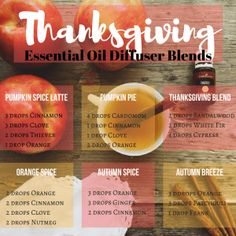 Thanksgiving Diffuser Recipes that are sure to have your home smelling delicious!
