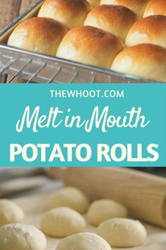 This potato rolls recipe is quick and delicious and melt in the mouth good. We have a quick video tutorial to show you how. Potato Dinner Rolls Recipe, Potato Rolls Recipe, Sweet Dinner Rolls, Avacoda Recipes, Simply Recipes, Baking Recipes, Bread Recipes, Frugal Recipes, Bagel Pizza
