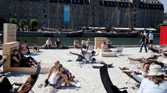 Ofelia Beach - urban hang out zone in #Copenhagen by the harbor. #allgoodthings #danish spotted by @missdesignsays