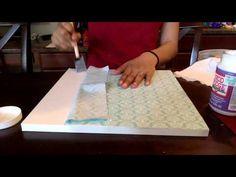 DIY: Upcycle Laminate Furniture!! (Mod Podge) - YouTube