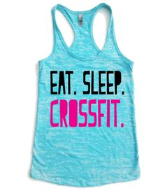 Crossfit Tank Top // Eat Sleep Crossfit // Eat by Built2InspireU, $22.00