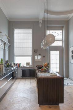 Copahome raamdecoratie vouwgordijn licht grijs semi transparant / La décoration de fenêtre. Stores américains, gris, semi transparent