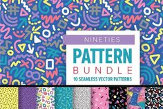 NINETIES Pattern Bundle by Anugraha Design on @creativemarket